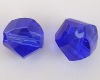 72 QUALITY CRYSTAL 6MM HELIX BEADS  Sapphire